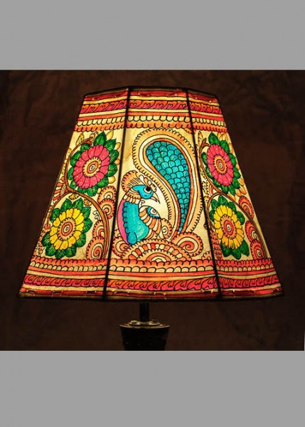 TABLE LAMPSHADE-PEACOCK BLOOM