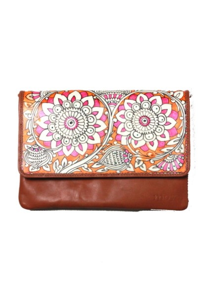 CLUTCH-SLING/BLOOM – LIGHT BROWN