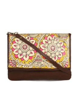 CLUTCH-SLING/BLOOM – BROWN