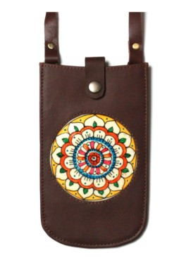 MOBILE POUCH/VICTORY FLOWER (Brown)