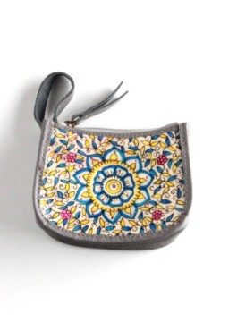 COIN POUCH-OCEAN FLOWER-GREY