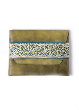CLUTCH-SLIM/FOLLIAGE (VINTAGE YELLOW)