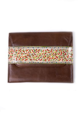 CLUTCH-SLIM/FOLLIAGE (brown)