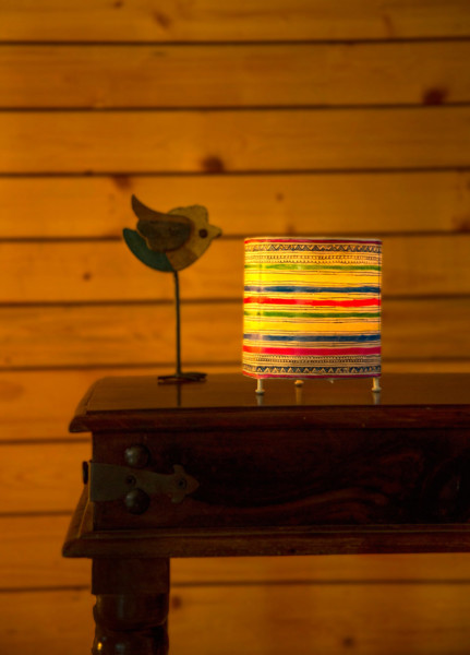 CYLINDER TEALIGHT -STRIPES