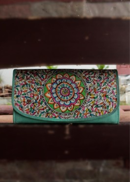 CLUTCH WALLET/ OCEANFLOWER