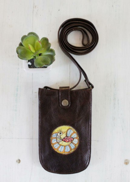 MOBILE POUCH-PEACOCK