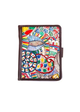 WALLET PASSPORT/ DOODLE  – BROWN