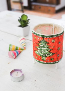 CYLINDER  BABY TEALIGHT- CHRISTMAS TREE