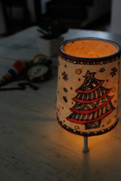 CONE BABY TEALIGHT- CHRISTMAS TREE