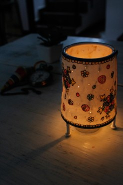 CONE BABY TEALIGHT- SNOW FLAKES
