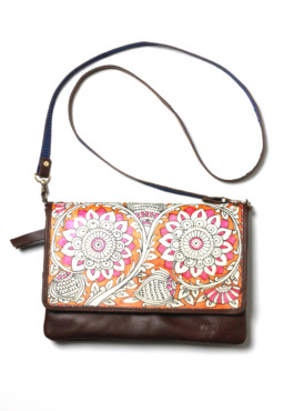 CLUTCH-SLING/BLOOM – DARK BROWN