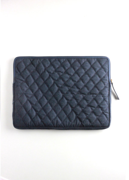 DENIM QUILTED LAPTOP SLEEVE