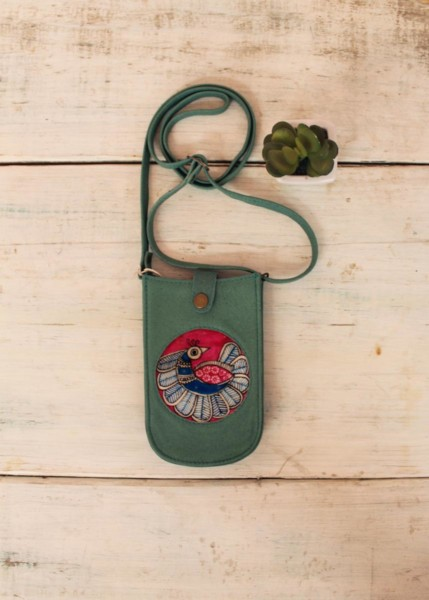 MOBILE POUCH-PEACOCK (Colorway)